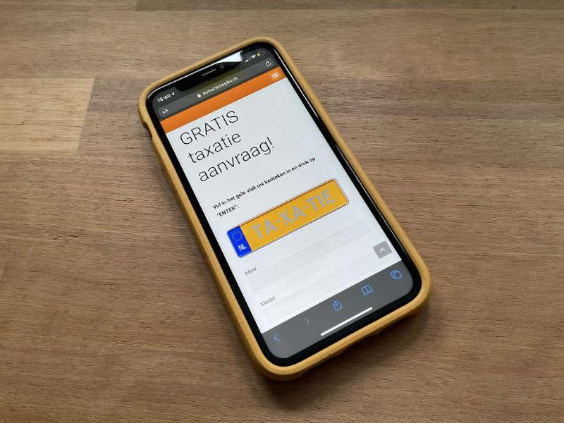 Gratis taxatie aanvraag op mobiel | Auto Inkoop BV