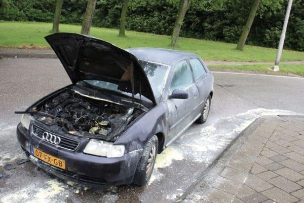 Auto met brandschade