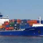 Export auto container schip