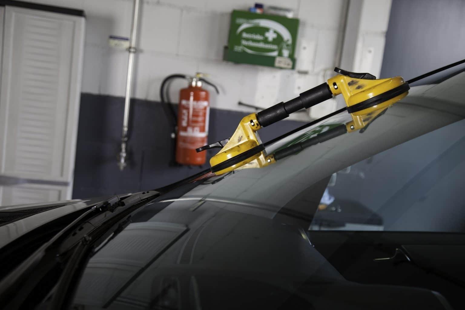 Een auto met Autoruitschade